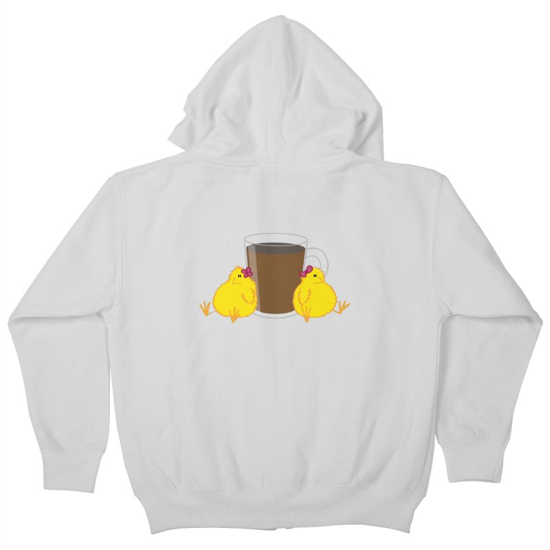 2 chicks 1 cup Kids Zip-Up Hoody by Alaabahattab's Artist Shop