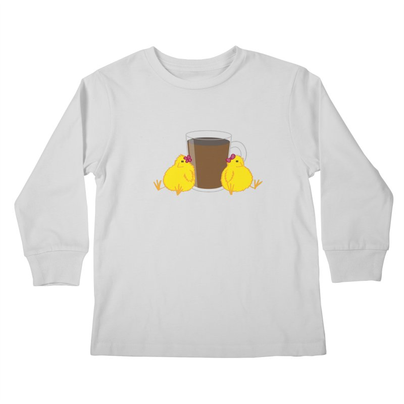 2 chicks 1 cup Kids Longsleeve T-Shirt by Alaabahattab's Artist Shop
