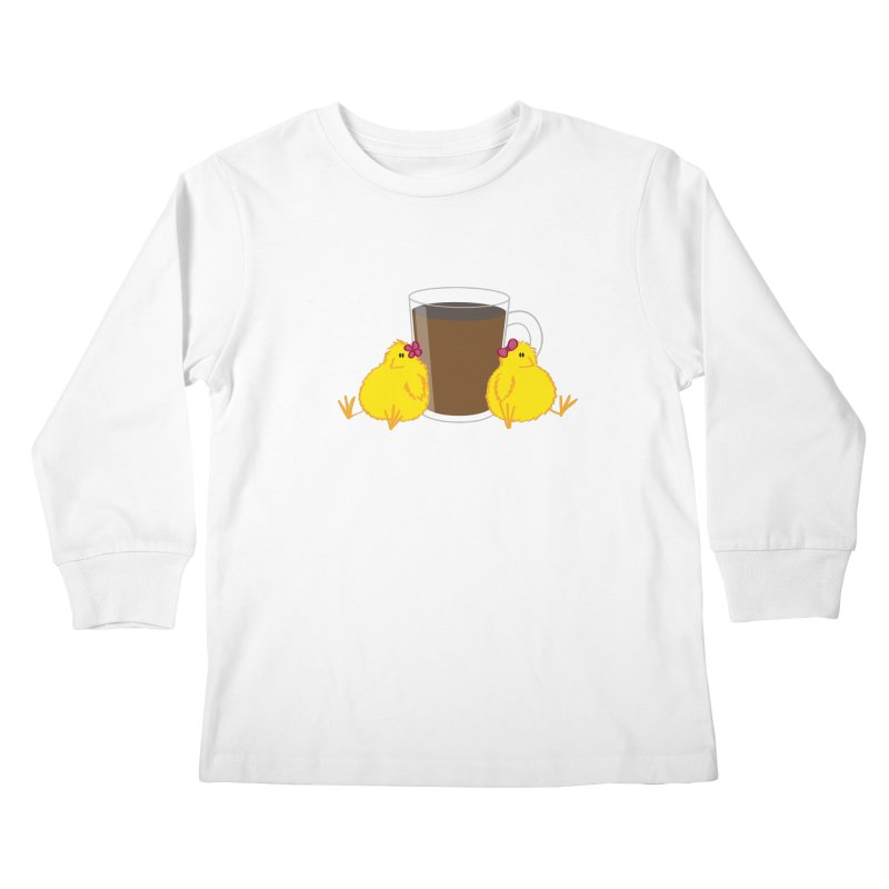 2 chicks 1 cup Kids Longsleeve T-Shirt by Alaabahattab's Artist Shop