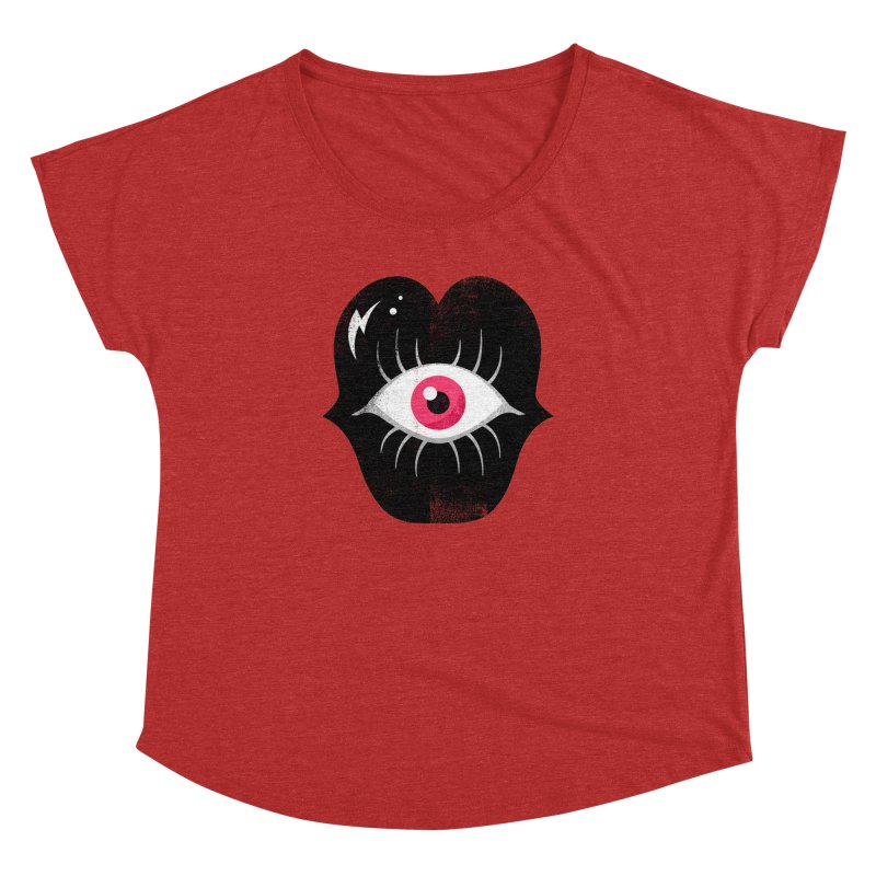 Do You See What I'm Saying? Women's Dolman Scoop Neck by Illustrator and Designer Alan Defibaugh's Shop