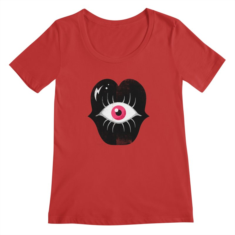 Do You See What I'm Saying? Women's Regular Scoop Neck by Illustrator and Designer Alan Defibaugh's Shop