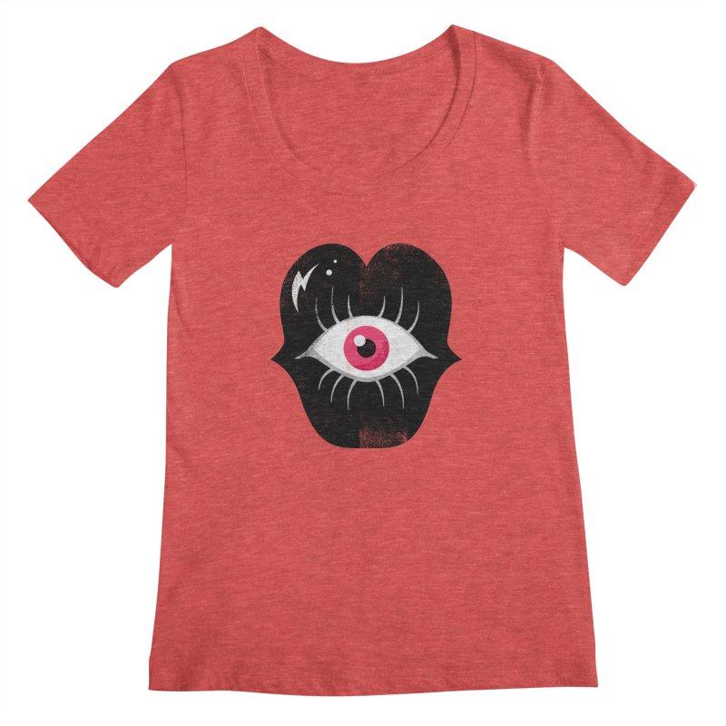 Do You See What I'm Saying? Women's Regular Scoop Neck by Illustrator and Designer Alan Defibaugh's Shop