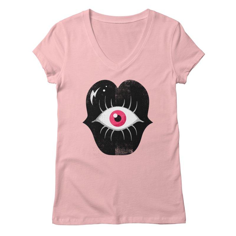 Do You See What I'm Saying? Women's V-Neck by Illustrator and Designer Alan Defibaugh's Shop