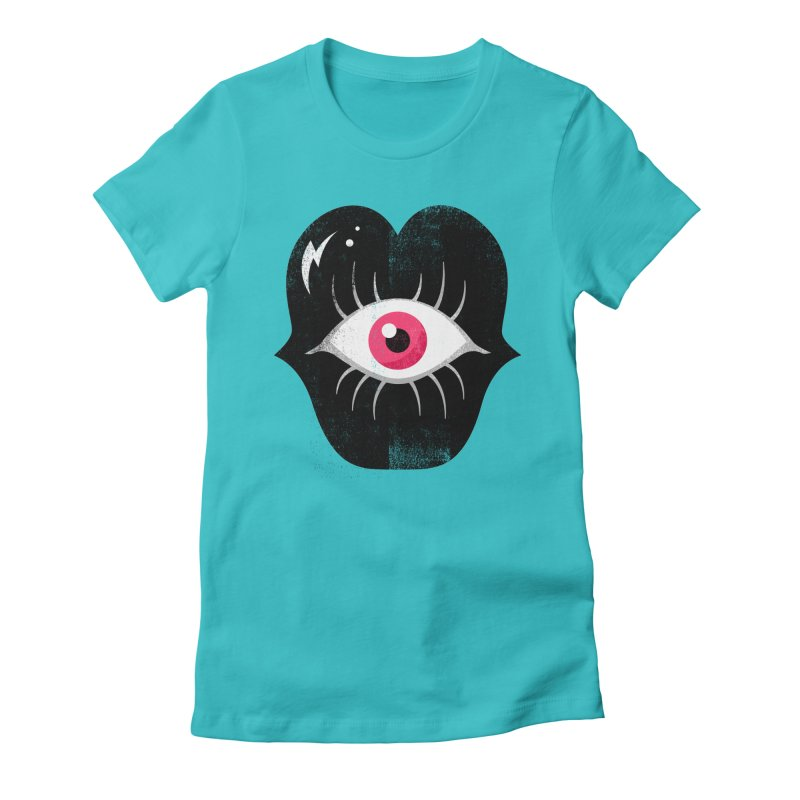 Do You See What I'm Saying? Women's Fitted T-Shirt by Illustrator and Designer Alan Defibaugh's Shop