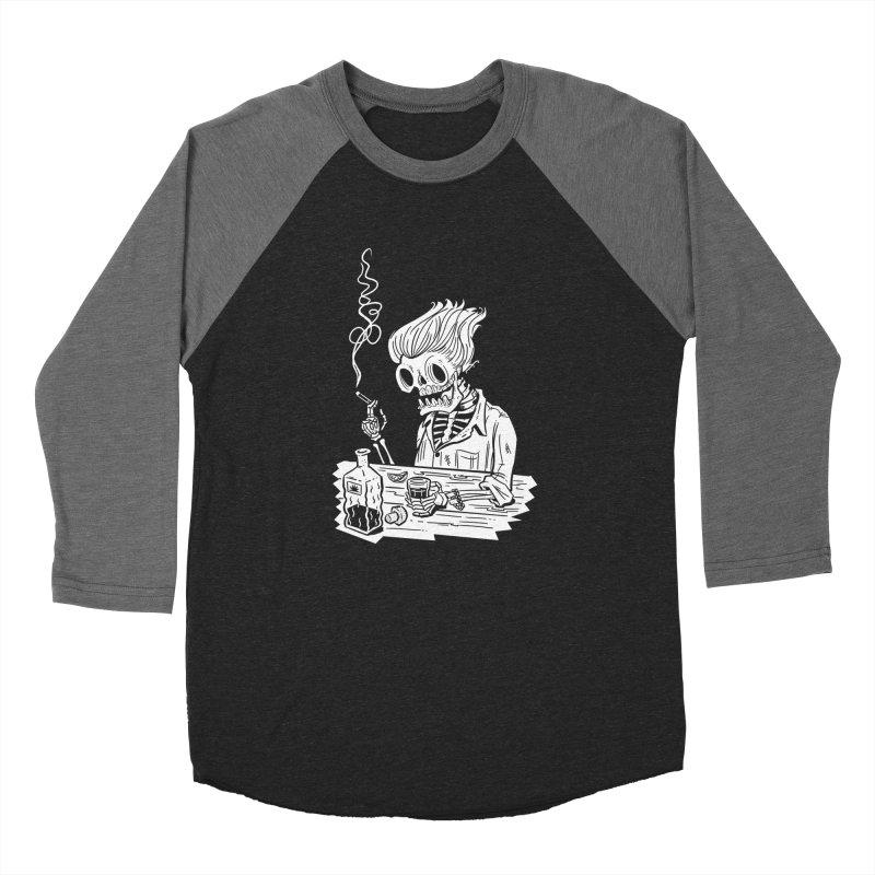 Tequila Sunset Men's Baseball Triblend Longsleeve T-Shirt by Illustrator and Designer Alan Defibaugh's Shop