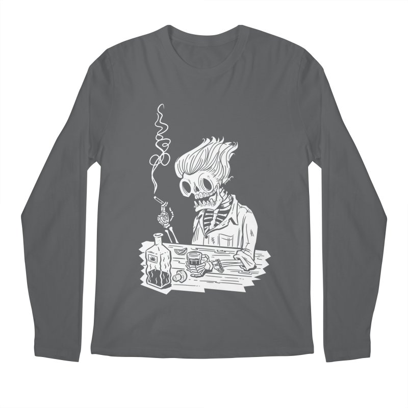 Tequila Sunset Men's Regular Longsleeve T-Shirt by Illustrator and Designer Alan Defibaugh's Shop
