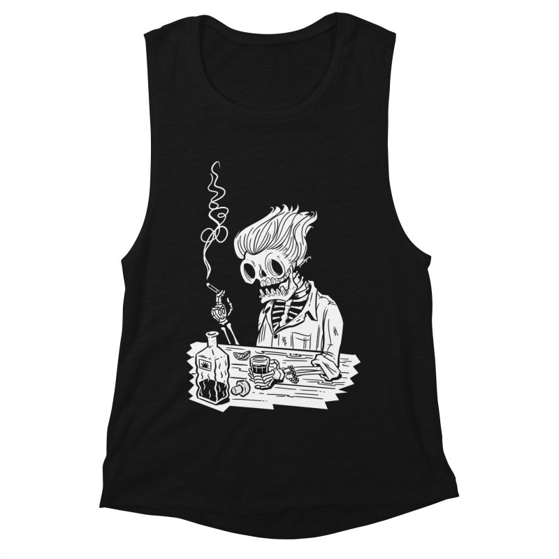 Tequila Sunset Women's Muscle Tank by Illustrator and Designer Alan Defibaugh's Shop