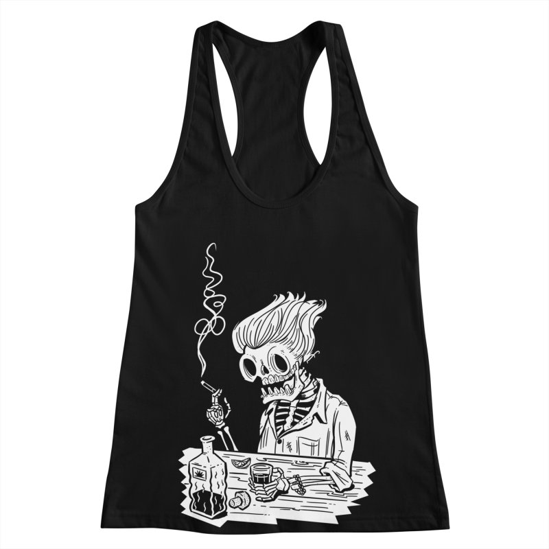 Tequila Sunset Women's Racerback Tank by Illustrator and Designer Alan Defibaugh's Shop