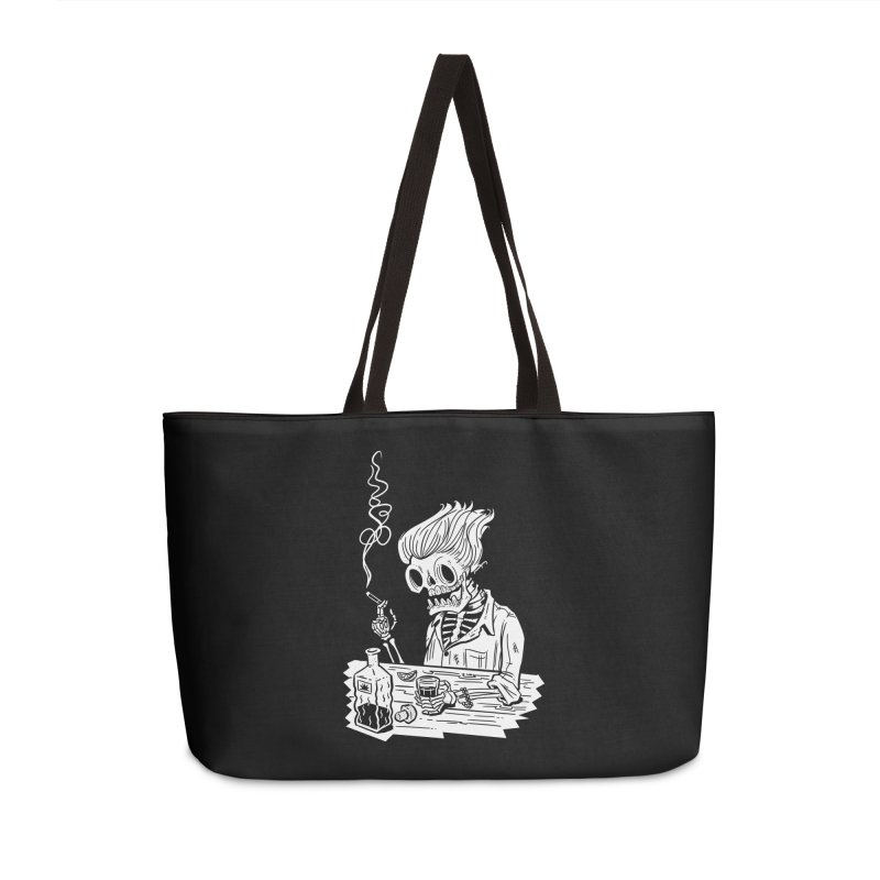 Tequila Sunset Accessories Weekender Bag Bag by Illustrator and Designer Alan Defibaugh's Shop