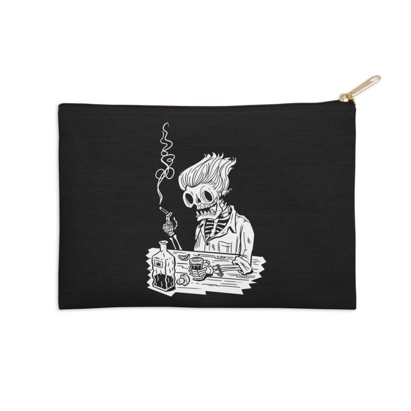 Tequila Sunset Accessories Zip Pouch by Illustrator and Designer Alan Defibaugh's Shop