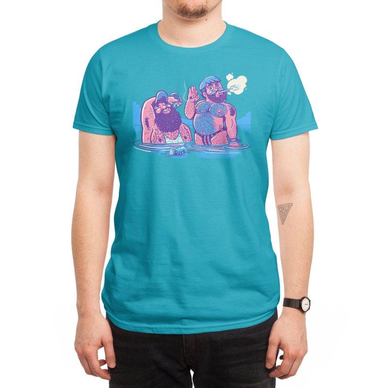River Time Men's T-Shirt by Illustrator and Designer Alan Defibaugh