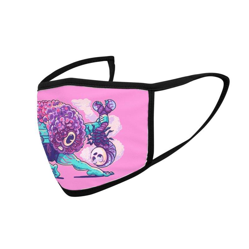 Shrimp Punch Accessories Face Mask by Illustrator and Designer Alan Defibaugh