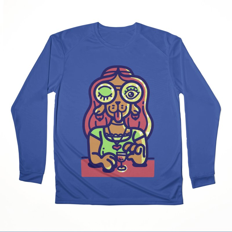 Sherry Vibes Women's Longsleeve T-Shirt by Illustrator and Designer Alan Defibaugh