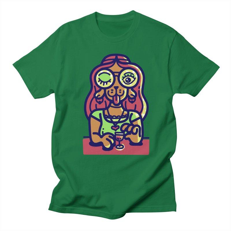 Sherry Vibes Men's T-Shirt by Illustrator and Designer Alan Defibaugh