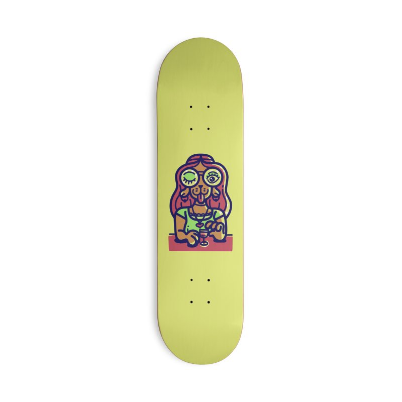 Sherry Vibes Accessories Skateboard by Illustrator and Designer Alan Defibaugh