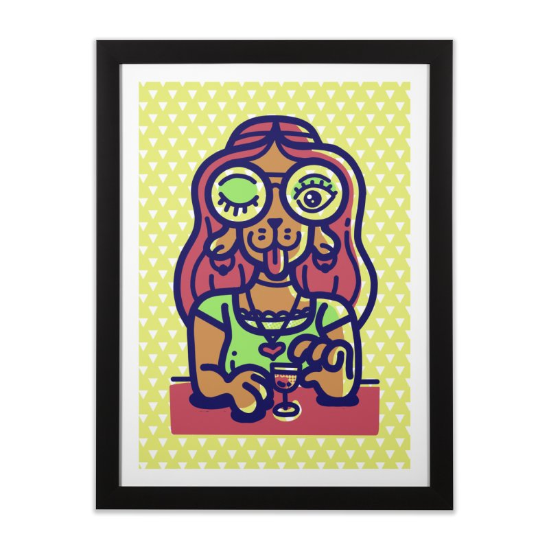 Sherry Vibes Home Framed Fine Art Print by Illustrator and Designer Alan Defibaugh