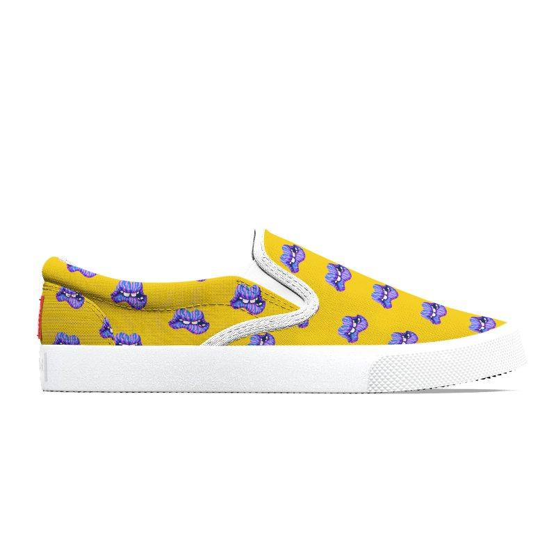 Pink & Blue Zebra Lips Men's Shoes by Illustrator and Designer Alan Defibaugh