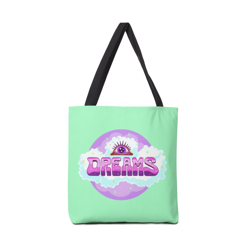 Dreams in the Clouds Accessories Bag by Illustrator and Designer Alan Defibaugh