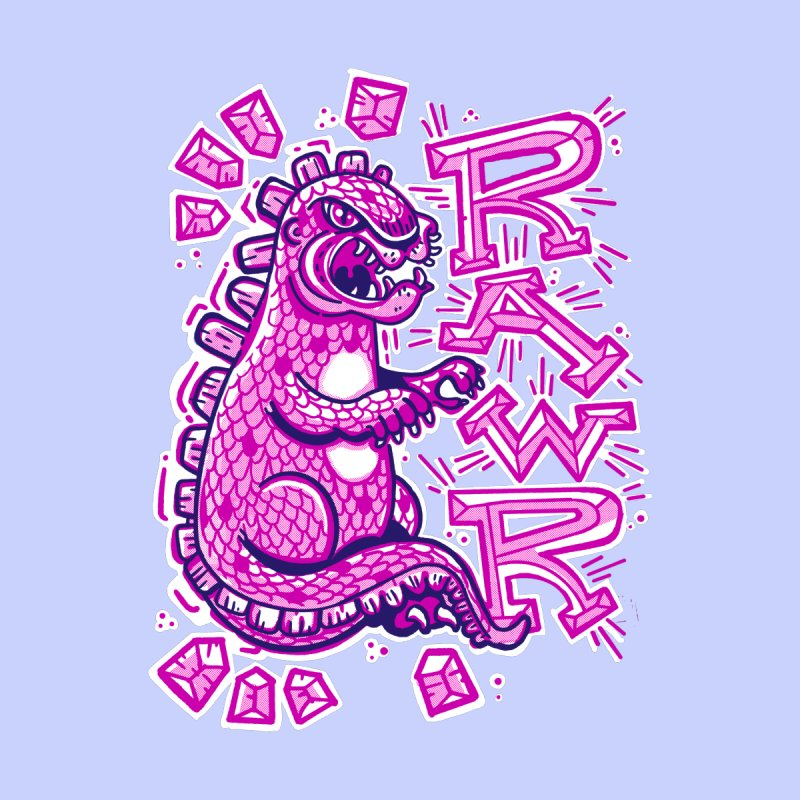 Kaiju Going Rawr! Men's T-Shirt by Illustrator and Designer Alan Defibaugh