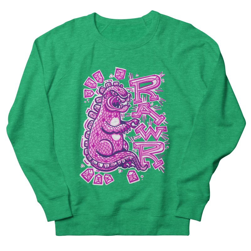 Kaiju Going Rawr! Women's Sweatshirt by Illustrator and Designer Alan Defibaugh