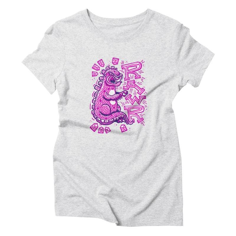 Kaiju Going Rawr! Women's T-Shirt by Illustrator and Designer Alan Defibaugh