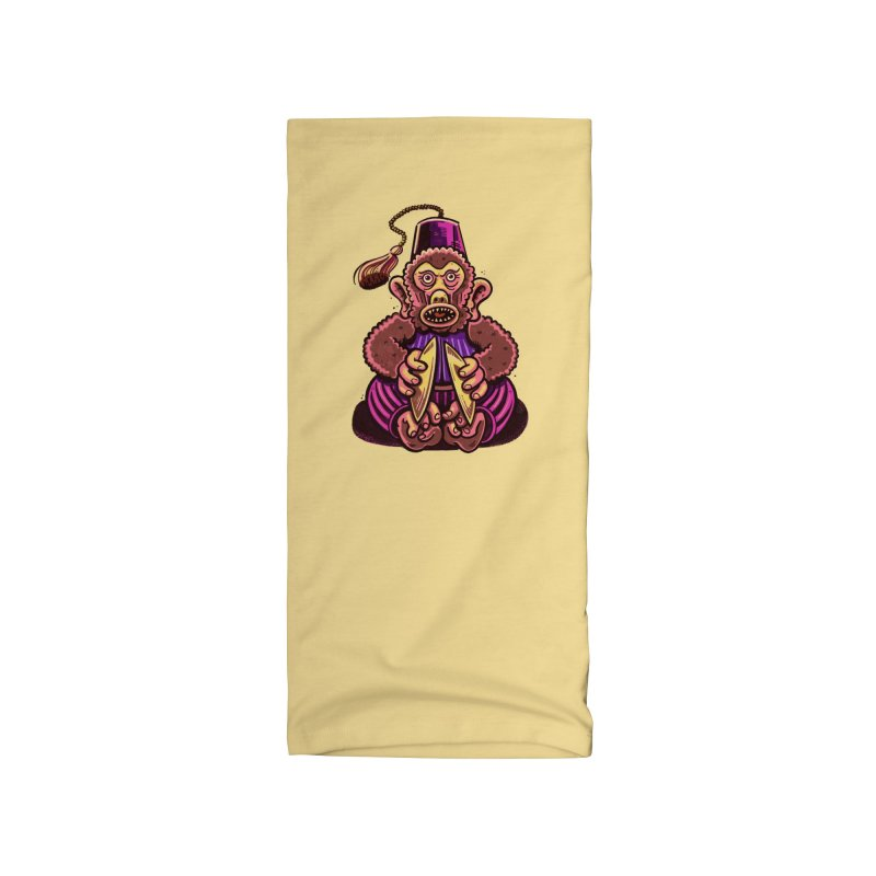 Cymbal Monkeys Are Creepy Accessories Neck Gaiter by Illustrator and Designer Alan Defibaugh