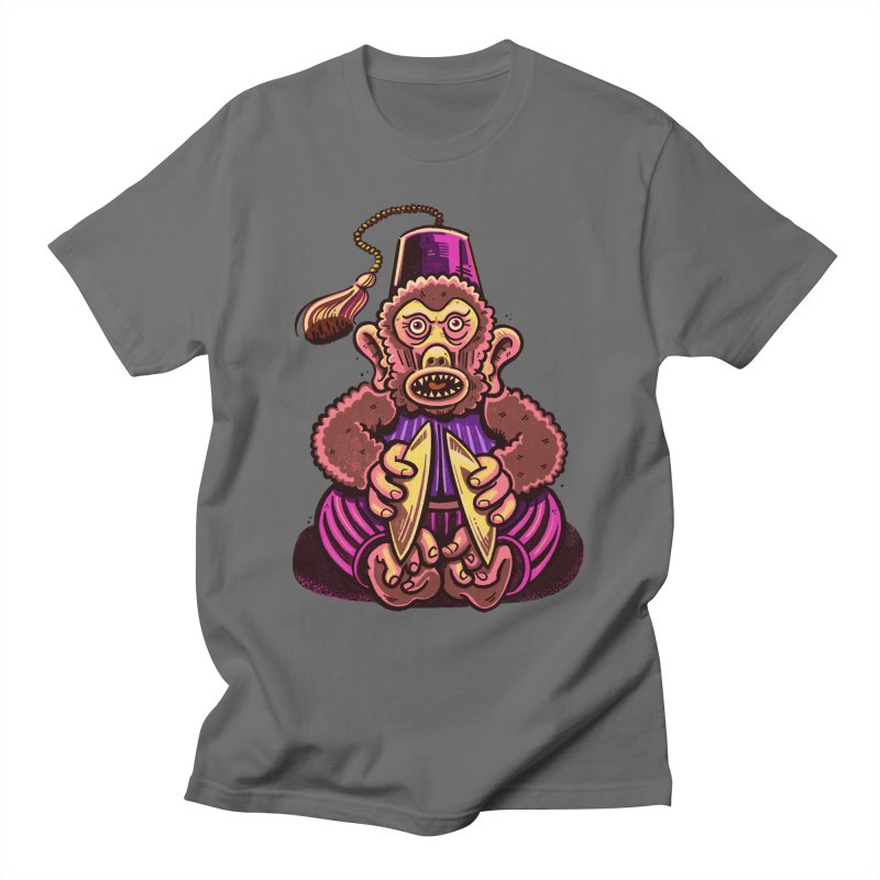 Cymbal Monkeys Are Creepy Women's T-Shirt by Illustrator and Designer Alan Defibaugh