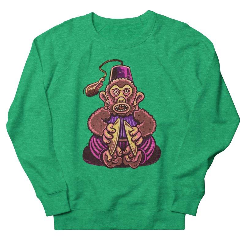 Cymbal Monkeys Are Creepy Women's Sweatshirt by Illustrator and Designer Alan Defibaugh