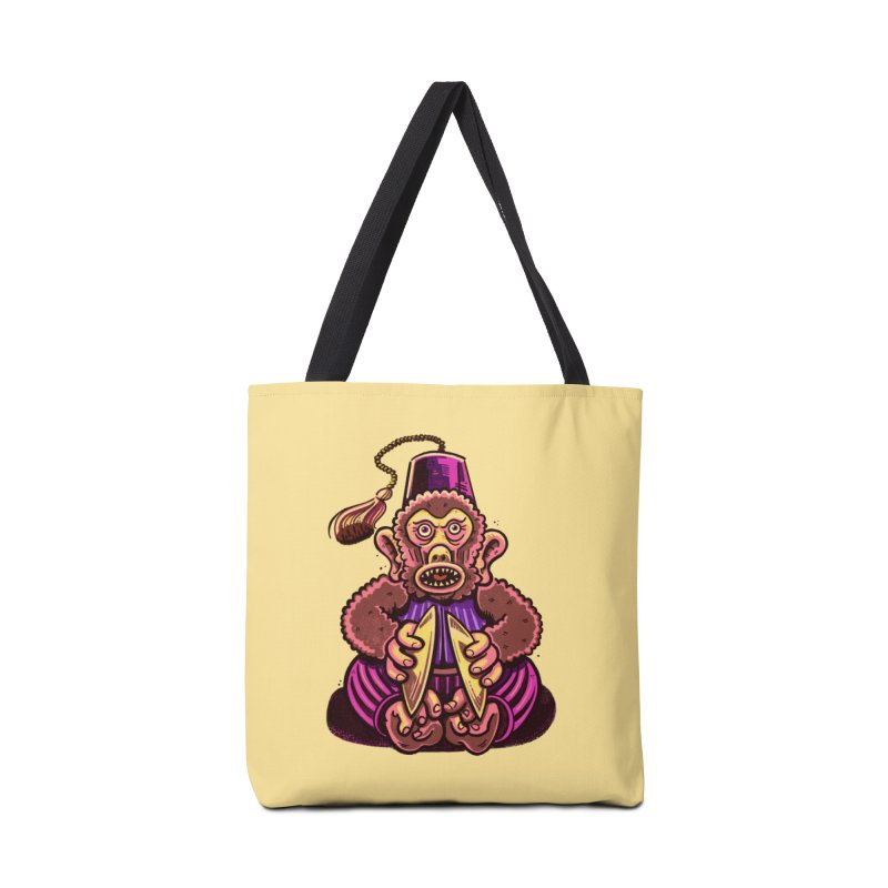 Cymbal Monkeys Are Creepy Accessories Bag by Illustrator and Designer Alan Defibaugh
