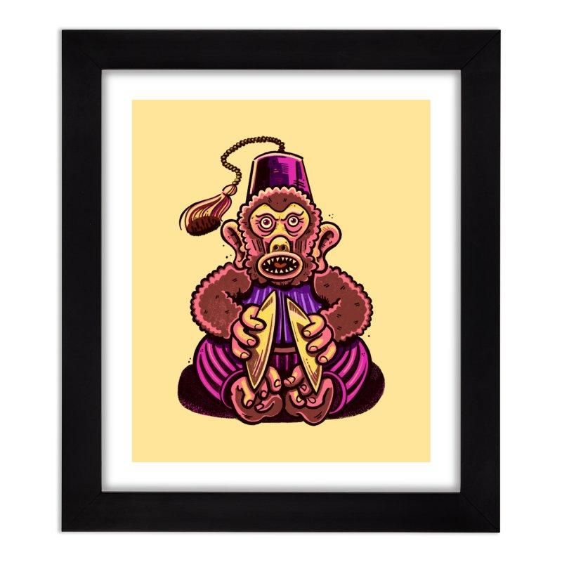Cymbal Monkeys Are Creepy Home Framed Fine Art Print by Illustrator and Designer Alan Defibaugh