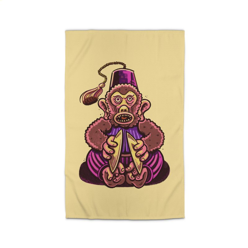 Cymbal Monkeys Are Creepy Home Rug by Illustrator and Designer Alan Defibaugh