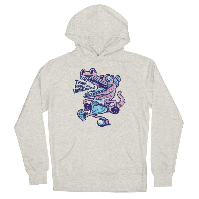 Trans Rights Are Human Rights Crocogator Men's Pullover Hoody by Illustrator and Designer Alan Defibaugh