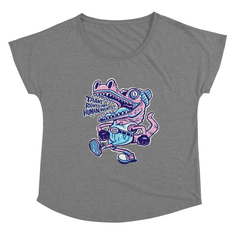 Trans Rights Are Human Rights Crocogator Women's Scoop Neck by Illustrator and Designer Alan Defibaugh