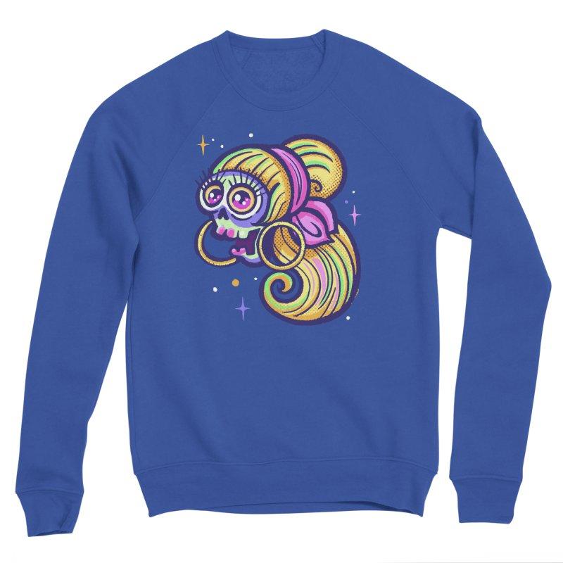 Skull with Blonde Wig and Pink Bandana Men's Sweatshirt by Illustrator and Designer Alan Defibaugh