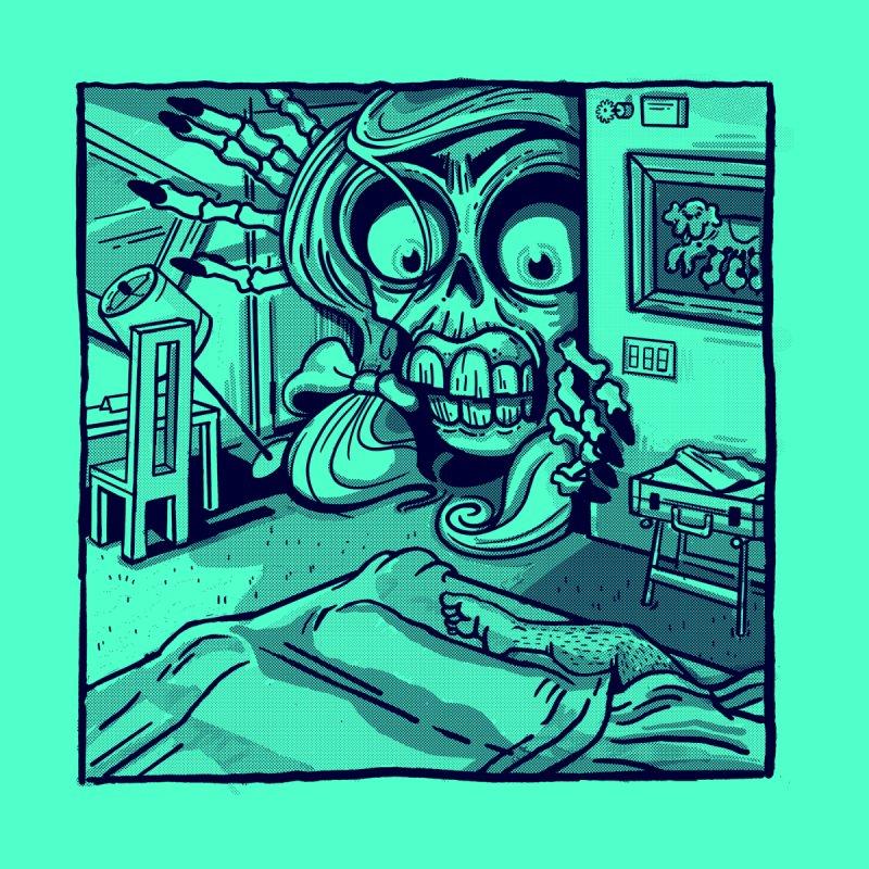 Skeleton Hotel Men's T-Shirt by Illustrator and Designer Alan Defibaugh