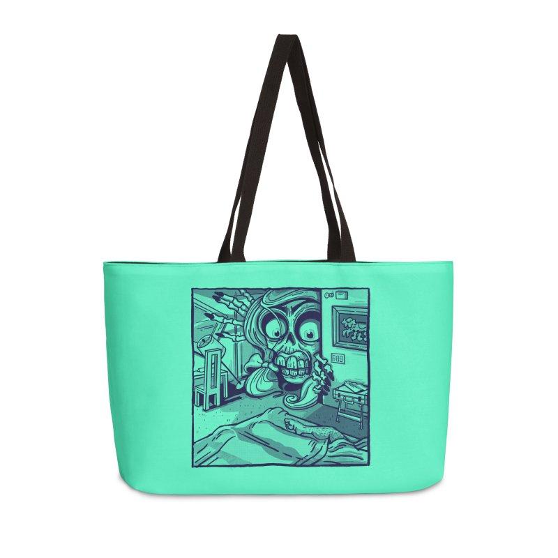 Skeleton Hotel Accessories Bag by Illustrator and Designer Alan Defibaugh