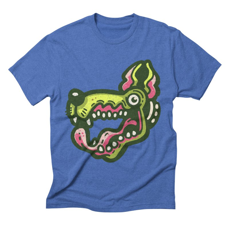 Green Great Dane Men's T-Shirt by Illustrator and Designer Alan Defibaugh