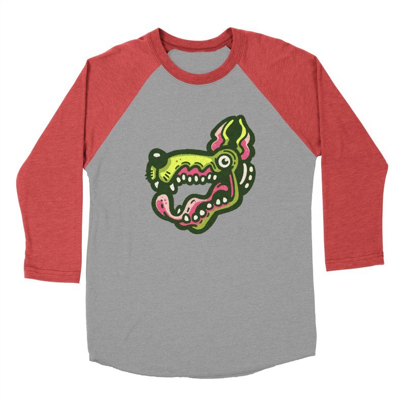 Green Great Dane Women's Longsleeve T-Shirt by Illustrator and Designer Alan Defibaugh