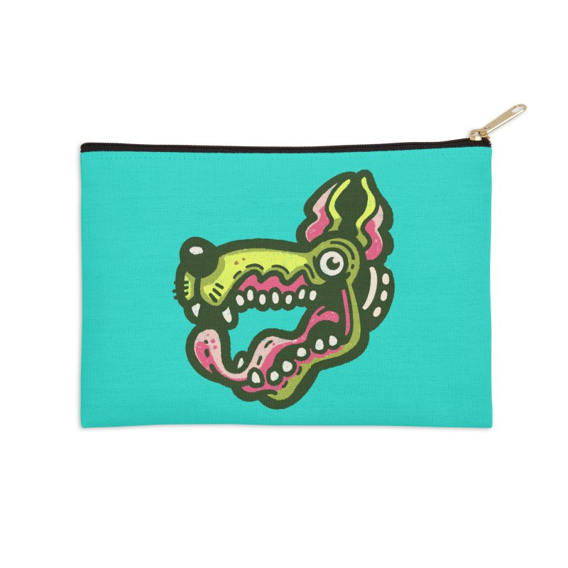 Green Great Dane Accessories Zip Pouch by Illustrator and Designer Alan Defibaugh