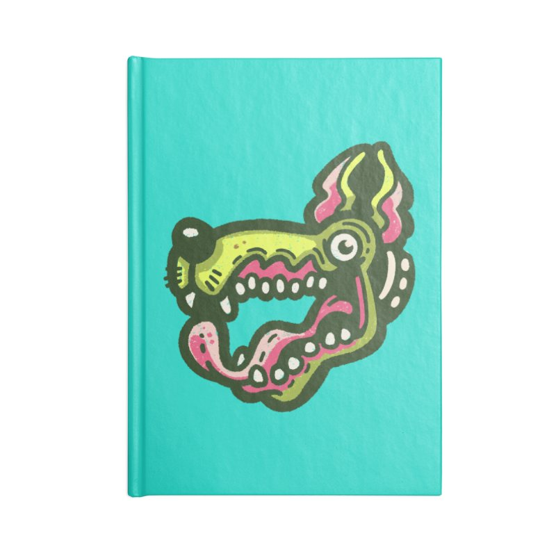 Green Great Dane Accessories Notebook by Illustrator and Designer Alan Defibaugh