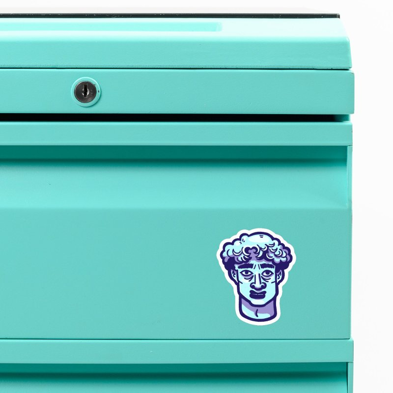 David Bust Accessories Magnet by Illustrator and Designer Alan Defibaugh