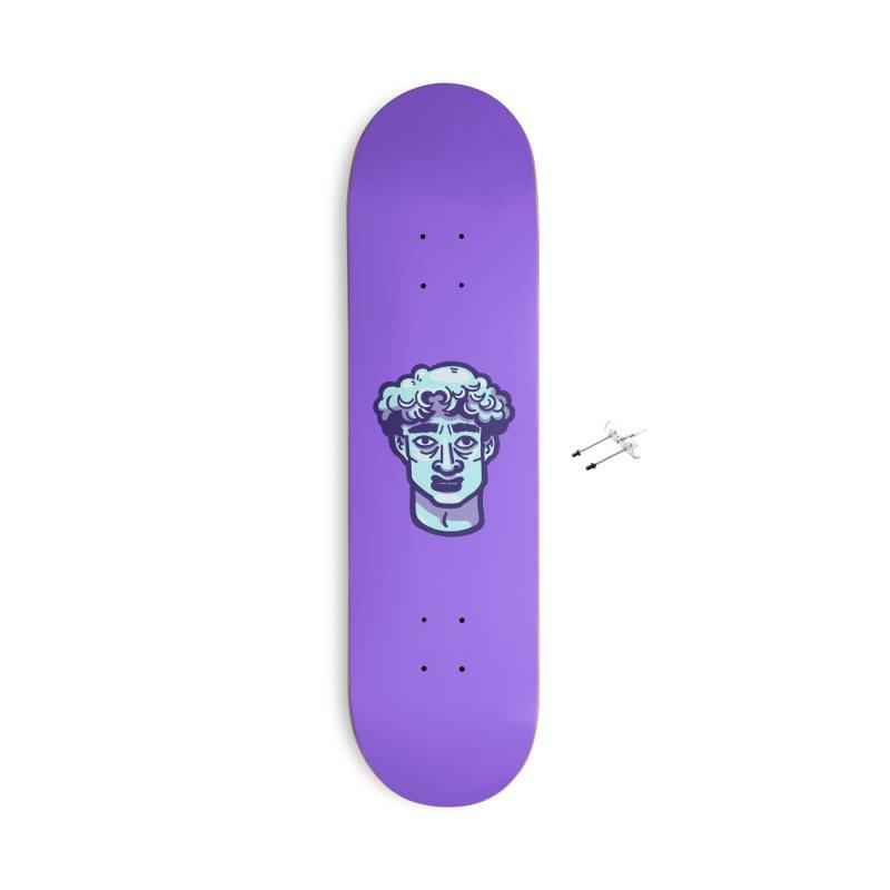 David Bust Accessories Skateboard by Illustrator and Designer Alan Defibaugh