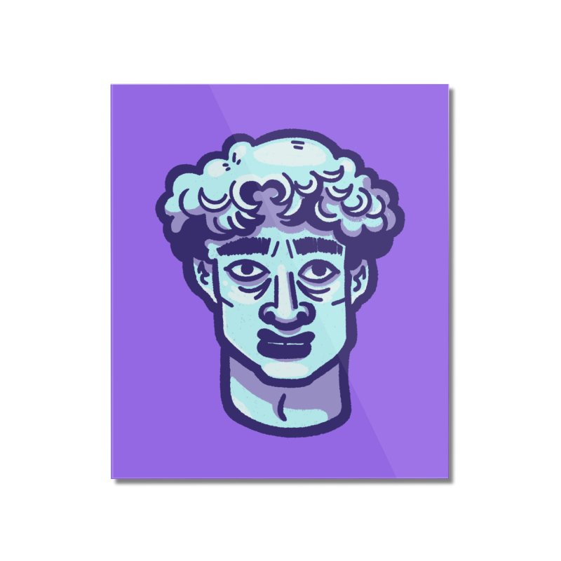 David Bust Home Mounted Acrylic Print by Illustrator and Designer Alan Defibaugh