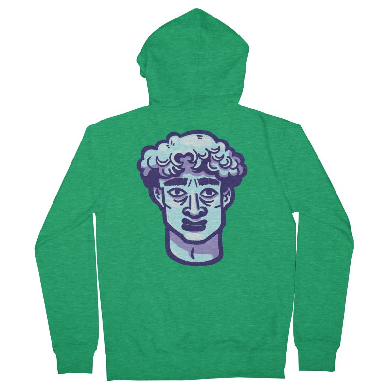 David Bust Men's Zip-Up Hoody by Illustrator and Designer Alan Defibaugh