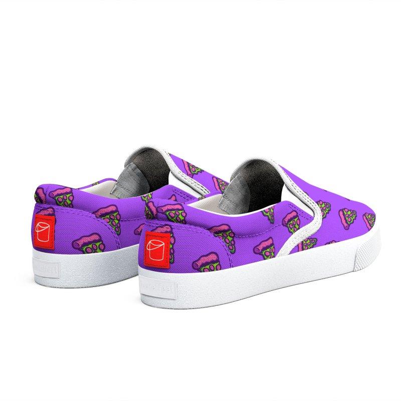 Green Pizza Men's Shoes by Illustrator and Designer Alan Defibaugh