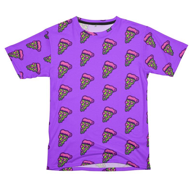 Green Pizza Men's Cut & Sew by Illustrator and Designer Alan Defibaugh