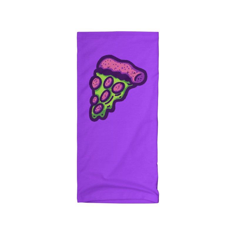 Green Pizza Accessories Neck Gaiter by Illustrator and Designer Alan Defibaugh