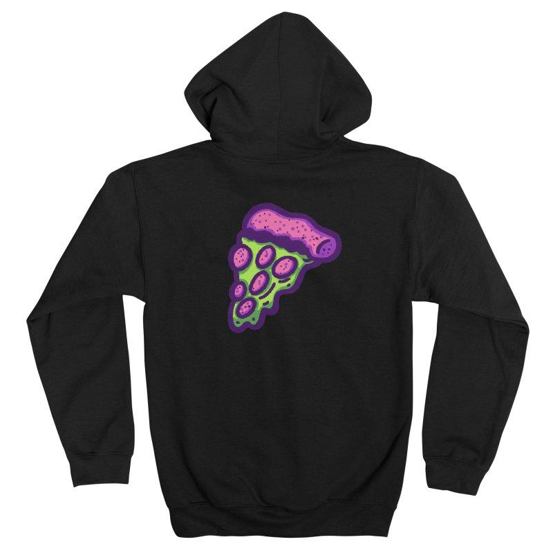 Green Pizza Men's Zip-Up Hoody by Illustrator and Designer Alan Defibaugh
