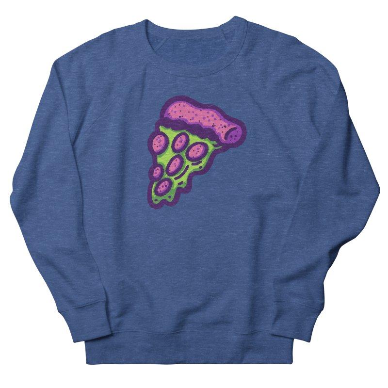 Green Pizza Men's Sweatshirt by Illustrator and Designer Alan Defibaugh