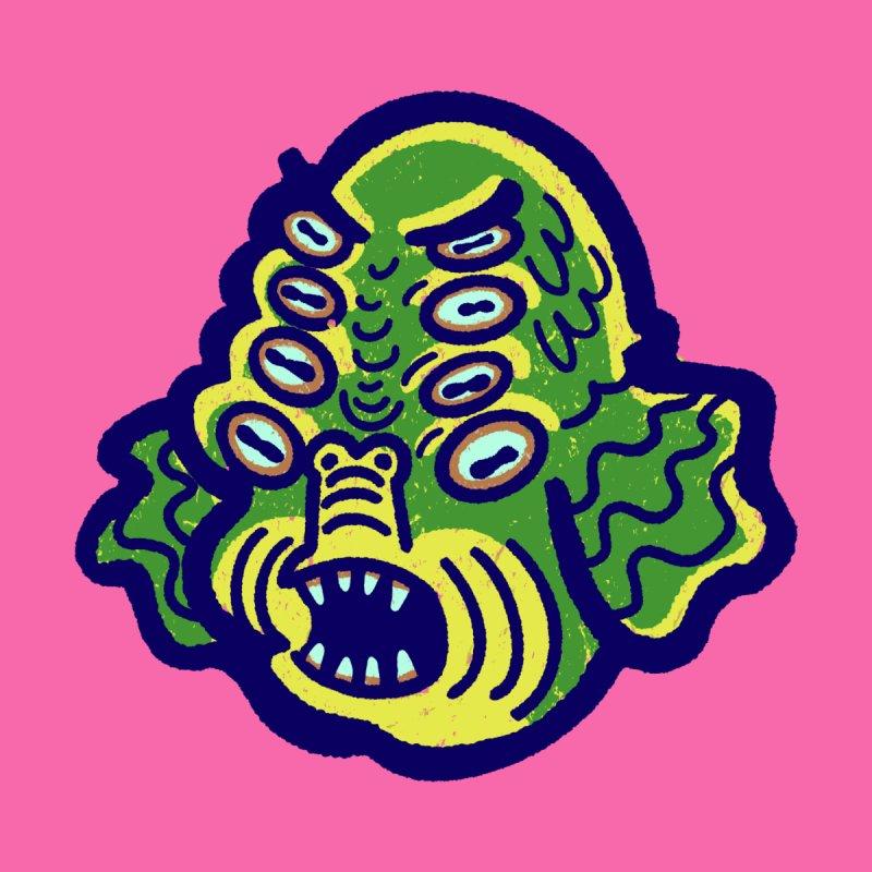 8-eyed Sea Monster Men's V-Neck by Illustrator and Designer Alan Defibaugh